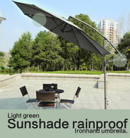 10' Hanging Umbrella Patio Umbrella Sunshine Offset Outdoor Market Umbrella