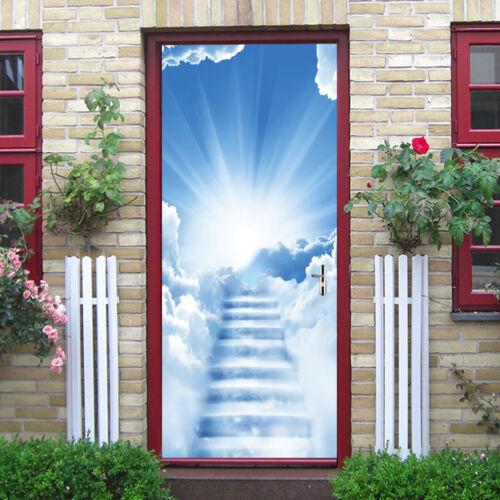 3D Art Door Wall Fridge Sticker Decal Self Adhesive Mural Home Decor 77*200cm UK