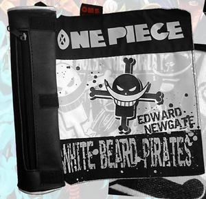 One Piece Whitebeard Pirates Edward Canvas Pen Bag Pencil Case Roll Up Pen Case
