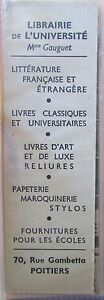 Antique-Brand-Pages-Bookmark-Advertising-cross-Red-Bookstore-University-Poitier