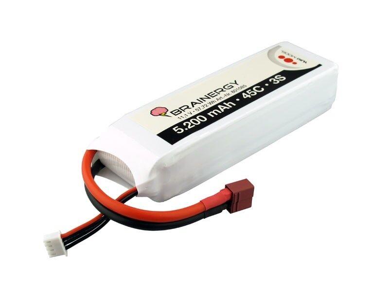 Yuki Model LiPo Brainergy 3s1p 11,1v 5.200mah 45c xt60 - 801085