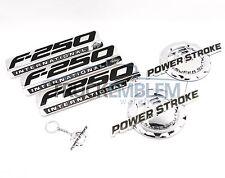 5 NEW CUSTOM CHROME F250 7.3L POWERSTROKE SUPERDUTY FENDER BADGES TAILGATE