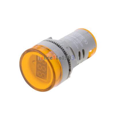 22MM AC60-500V LED Voltmeter Voltage Meter Indicator Pilot Light New DIY