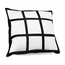 10pcs 9 Grid Panel Section Photo Sublimation Cushion Pillow Cover Blank 40x40cm