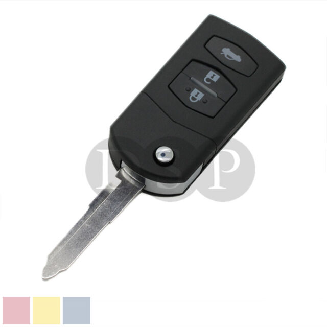 Key Shell fit for MAZDA 2 3 5 6 RX8 MX5 Flip Remote Case Fob Replacement 3 BTN