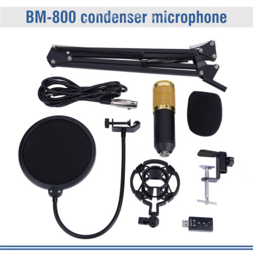 BM800 Kondensator Mikrofon set Professionell Komplett Set für Studio Aufnahme DE