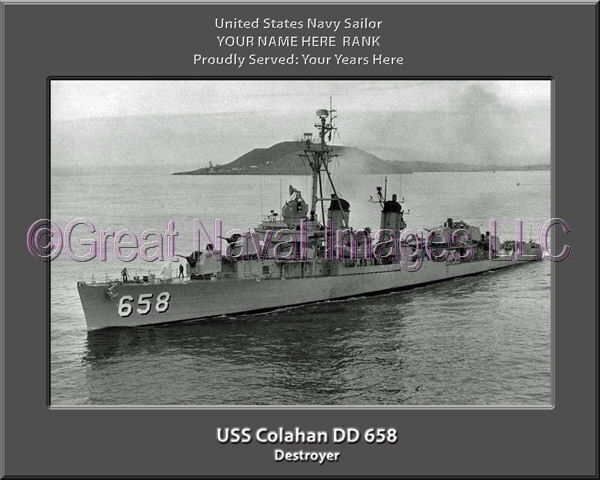 USS Colahan DD 658 Personalized Canvas Ship Photo Print Navy Veteran Gift