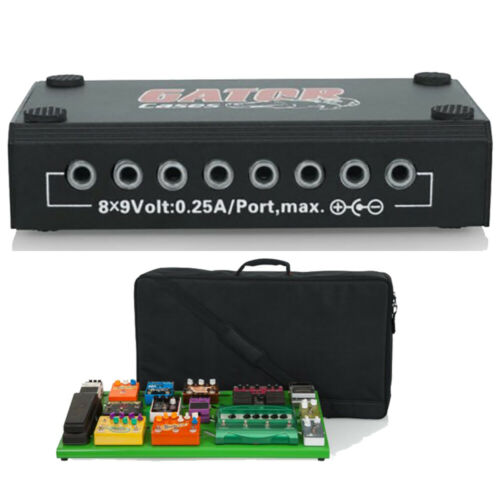 Gator Cases GPB-XBAK-GR Extra Large Pedal Board w// Bag and Power Supply Green
