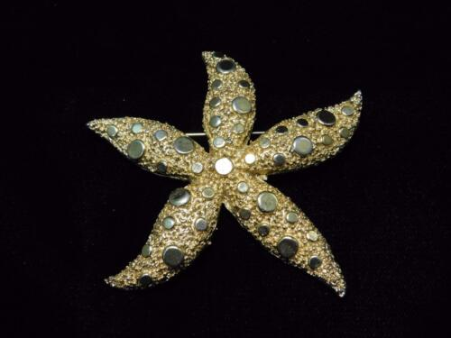 Matching Earrings Vintage CORO Starfish Brooch Pin All Marked