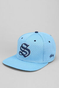 f3c7911258417 STUSSY ATHLETIC TARHEELS BLUE MESH CAP HAT 100% AUTHENTIC BRAND NEW ...