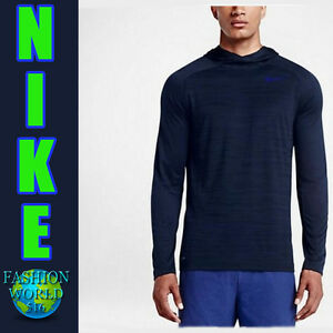 ba5ccecef33b Details about MEN S SIZE 2XL NIKE DRI-FIT TOUCH LIGHTWEIGHT LONG SLEEVE  HOODIE BLUE 839096 NWT