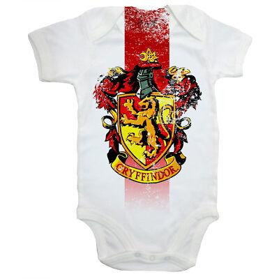 "Harry Potter Body de bebé ""GRYFFINDOR CASA Escudo"" Chaleco Crecimiento Hogwarts"