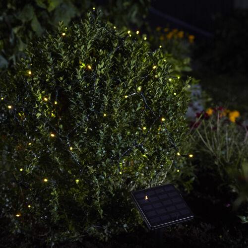 2 Stück 100er LED Solar Lichterkette Außenlichterkette LEDs Kette Warmweiß XM62