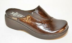 646a087ae8e48 Details about Mephisto Air Relax Brown Leather Slip On Mule Womens Shoes  Size US 6.5 Eur 37