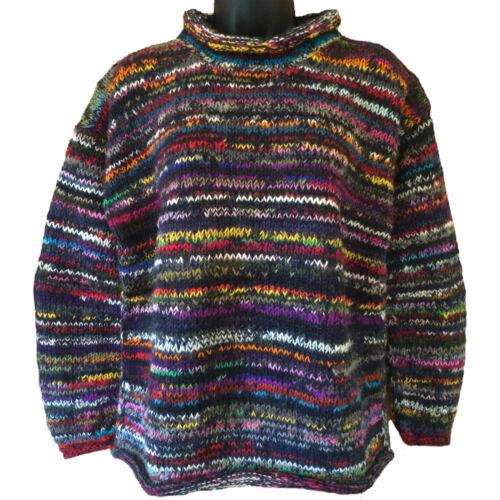 e equo Boho Rainbow Hippy Blue Stripe Maglione solidale Striped Commercio f18qw6x6