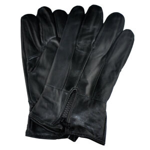 Men-039-s-Genuine-Leather-Gloves-With-Zipper-GM160-Large