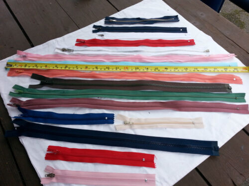 Zippers  Job lot of 100 pieces mix colours ./& sizes  YKK OPTI /& TREBLA.