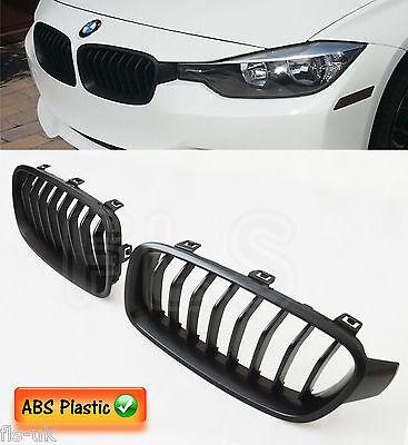 BMW 3 SERIES 2011 - 2016 F30 F31 M PERFORMANCE FRONT KIDNEY GRILLE MATTE BLACK
