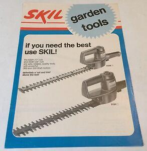 Skil Jardin Outils Haie Coupe-bordures Bob Andrews Original 1981 Sales Brochure-afficher Le Titre D'origine Wp87lnis-10104459-642778259