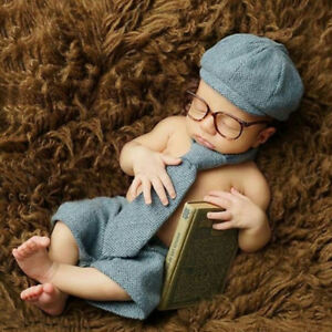 fb55ceb942af Newborn Photography Props Baby Boy Gentleman Set Costume Clothing ...