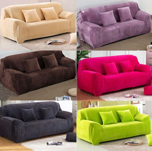 Sofa Überwürfe Sofabezug Stretch Samt Sofahusse für 1-4 Sitzer Sofa Abdeckung
