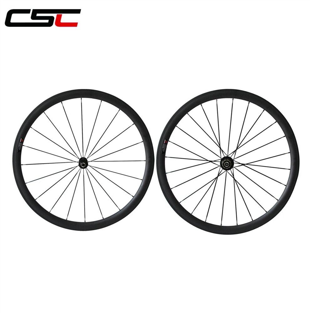 1410g   23mm width 38mm Clincher carbon road SAT wheels  perfect