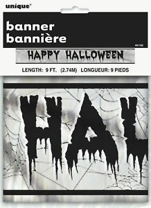 Silver /& Black Party Happy 18th Birthday Foil Banner 9ft length