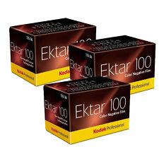 3 Rolls Kodak Ektar 100 135-36 Exp Color Negative Professional 35mm Film ISO 100