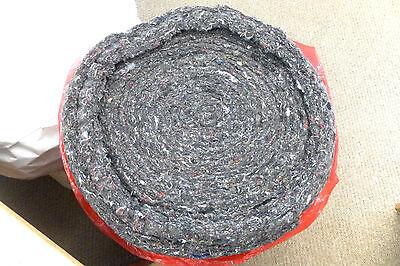 5m Black Layered Wool Felt Upholstery Padding/Wadding
