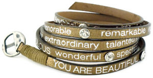 Good-Works-Make-a-Difference-Wrap-Around-Metallic-Leather-Bracelet-with-Crystals