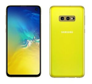 Samsung-Galaxy-S10e-in-Gelb-Handy-Dummy-Attrappe-Requisit-Deko-Aussteller