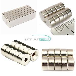 5//10PCS Magnet Strong Fridge Magnets Rare-Earth Neodymium Magnet N50 N52