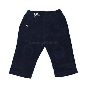 Pantalone-in-Velluto-Blu-Neonato-Minibanda-H640