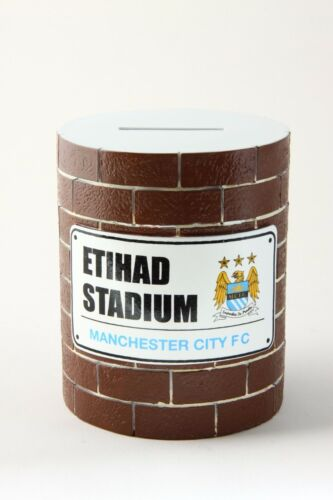 Manchester City Brick Money Box safe Coins Football Club Team Collection