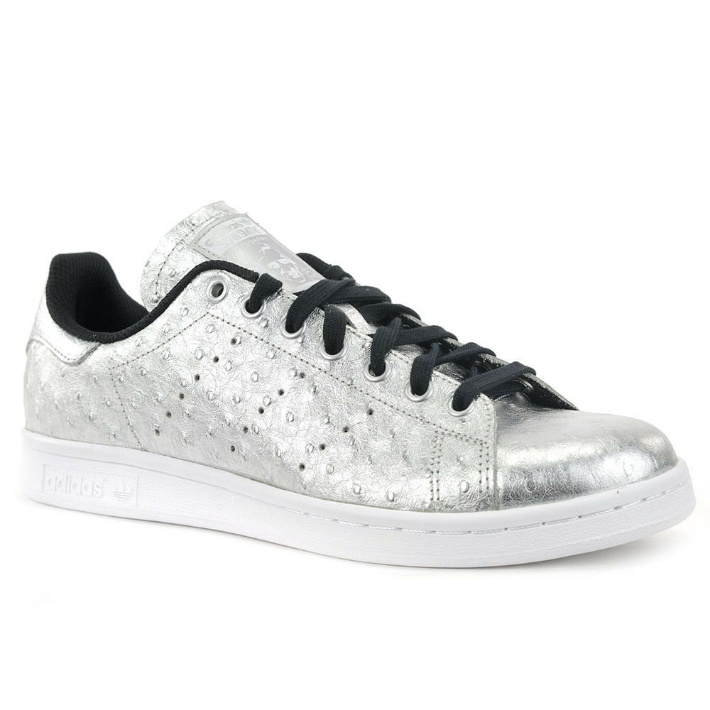Adidas Originals hombres Stan Smith aq4706 plata / Silver / blanco NWT NIB