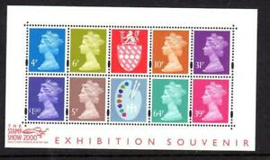 2000-GB-STAMP-SHOW-Colour-Palette-Miniature-Sheet-MS2146-MNH-Minisheet