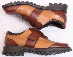 Donald-J-Pliner-Sport-Brown-Leather-Slip-On-Zip-Up-Magnetic-Strap-Women-039-s-U-S-6M