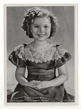Shirley Temple 1937 Union Dresden Film Star Series 7 5X7 Cigarette Photo Card