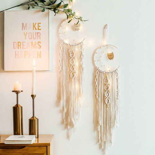 Cotton Rope Dream Catcher Pendant Wall Hanging Tapestry Retro Hand-Woven Decor