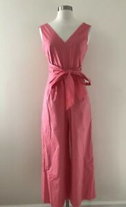 395a8ce0ace New Jcrew Wrap-tie jumpsuit in stretch poplin 2 Bright Coral Pink ...