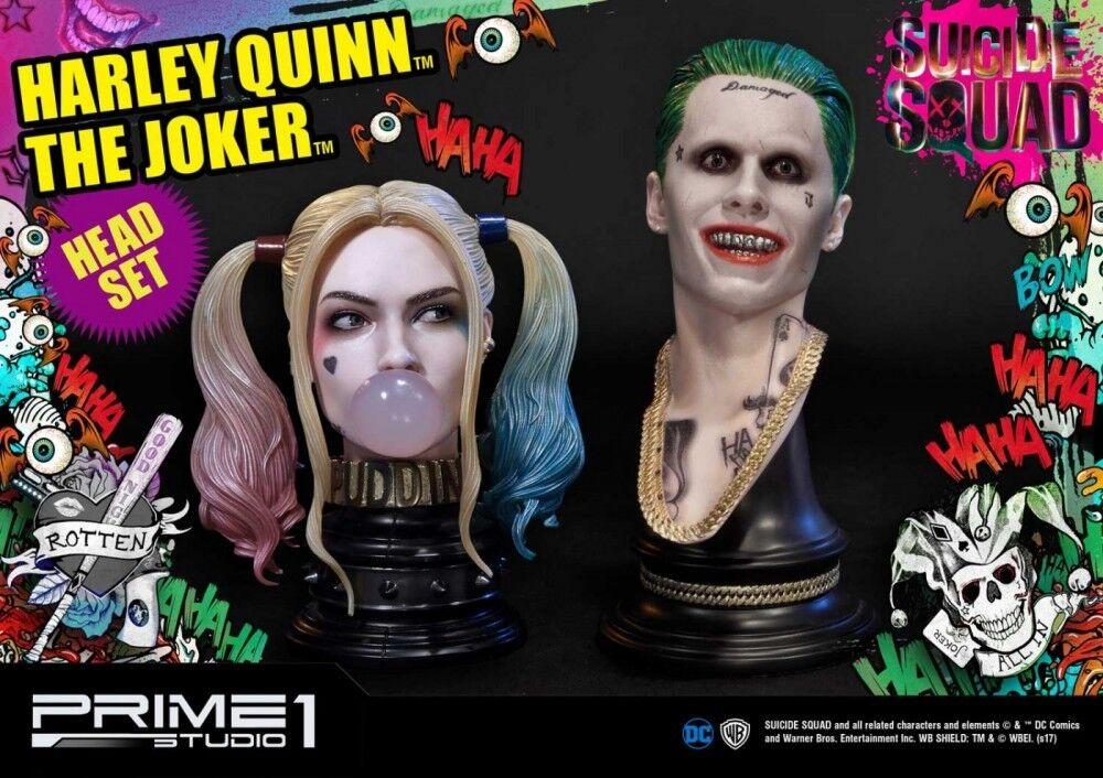 ahorra hasta un 80% Prime 1 Studio Studio Studio el Guasón & Harley Quinn Head Set Escuadrón de suicidio Batman Menta en caja  salida de fábrica