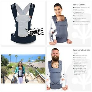 b891d676265 Beco Gemini Baby Carrier Cool Navy - Mesh Multi-Position Soft ...
