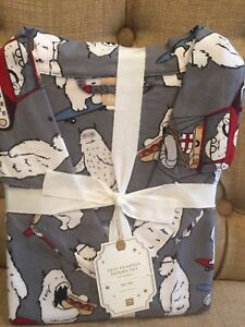 Pottery Barn Teen Yeti Flannel Pajama Set Pajamas Size