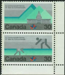 Canada-sc-762a-XI-Commonwealth-Games-Building-amp-Lawn-Bowling-Ve-Pair-Mint-NH