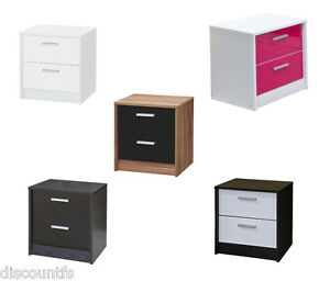 Image Is Loading Khabat High Gloss 2 Drawer Bedside Table Available