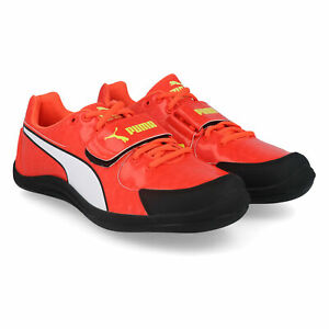 Puma-Unisexe-EvoSpeed-Throw-4-Track-and-Field-Chaussures-De-Sport-Rouge-Respirant