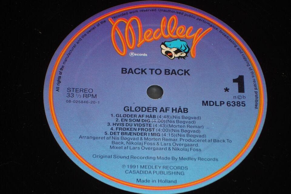 LP, Back To Back, Gløder Af Håb