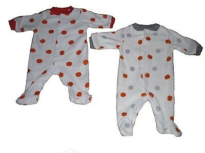 Baby Boys Sleepsuit Pyjamas All Inn One Halloween Pumpkins