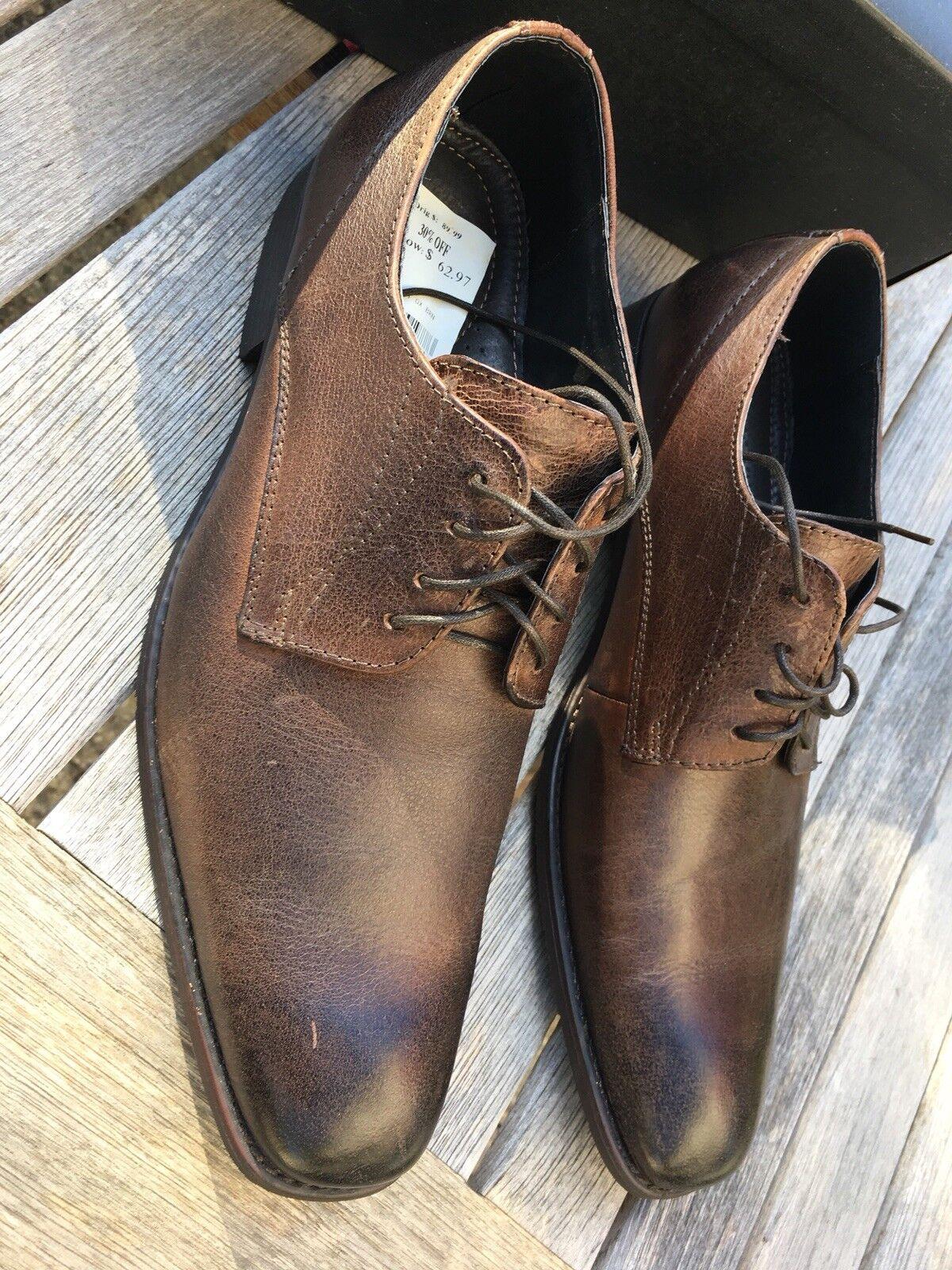 Alfani Mens Size 11.5M Brown Leather Dress shoes -  Retail (Alfani)