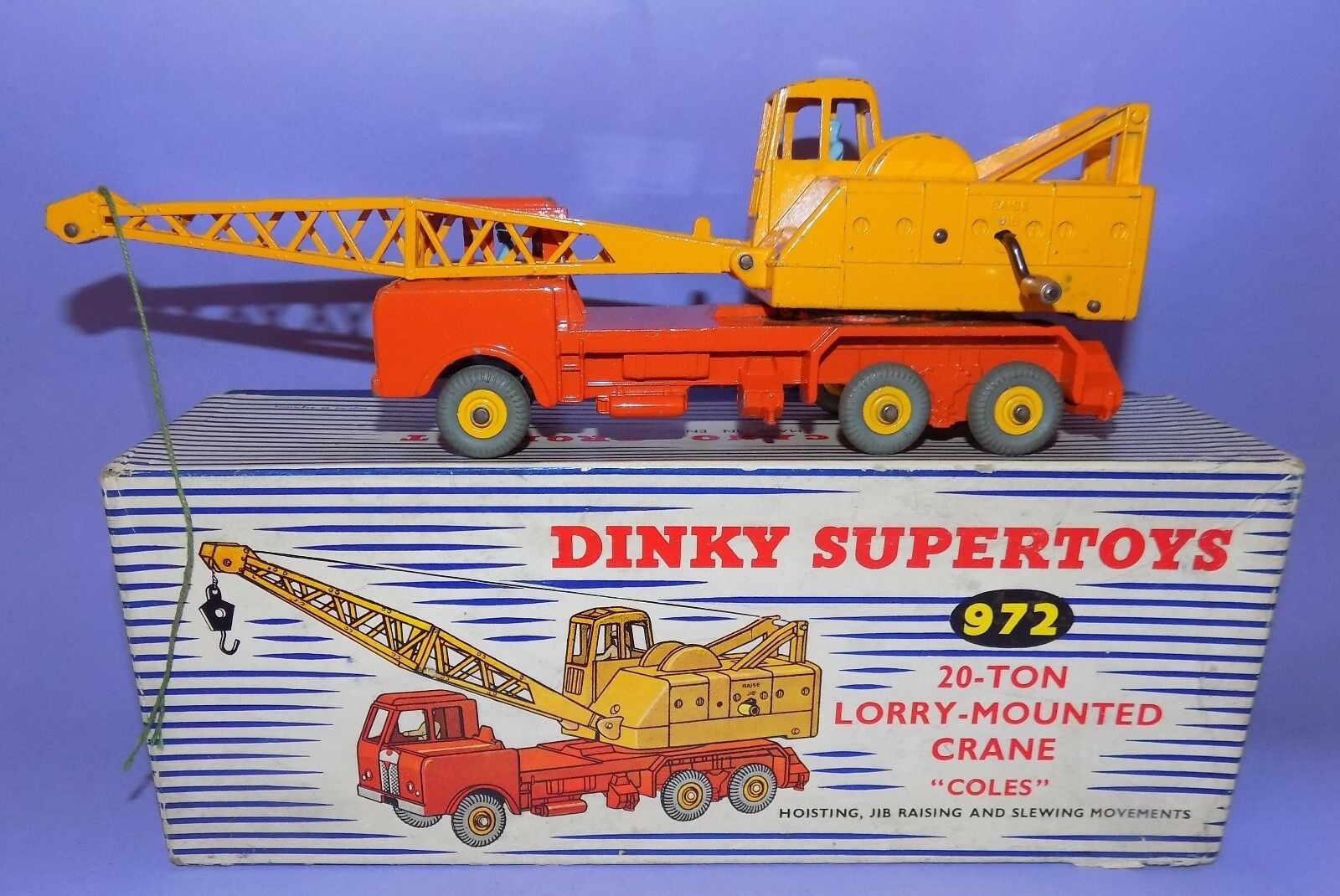DINKY  1958 -1960  NO 972  20-TON LORRY-MOUNTED CRANE  IN ORIGINAL BOX